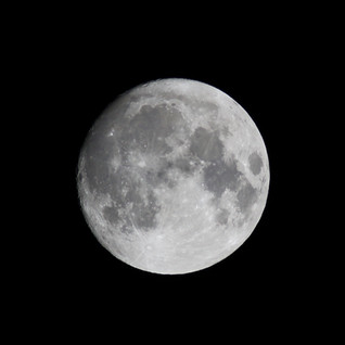 Moon on New Years Eve