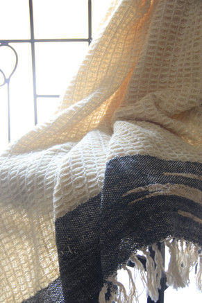 Wool x cotton throw