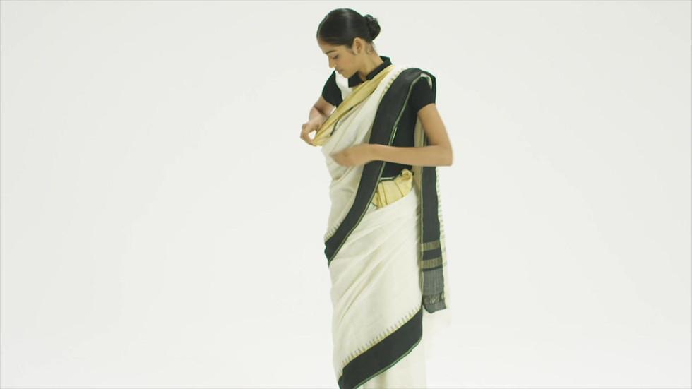 Mohiniattam wearing style from Kerala