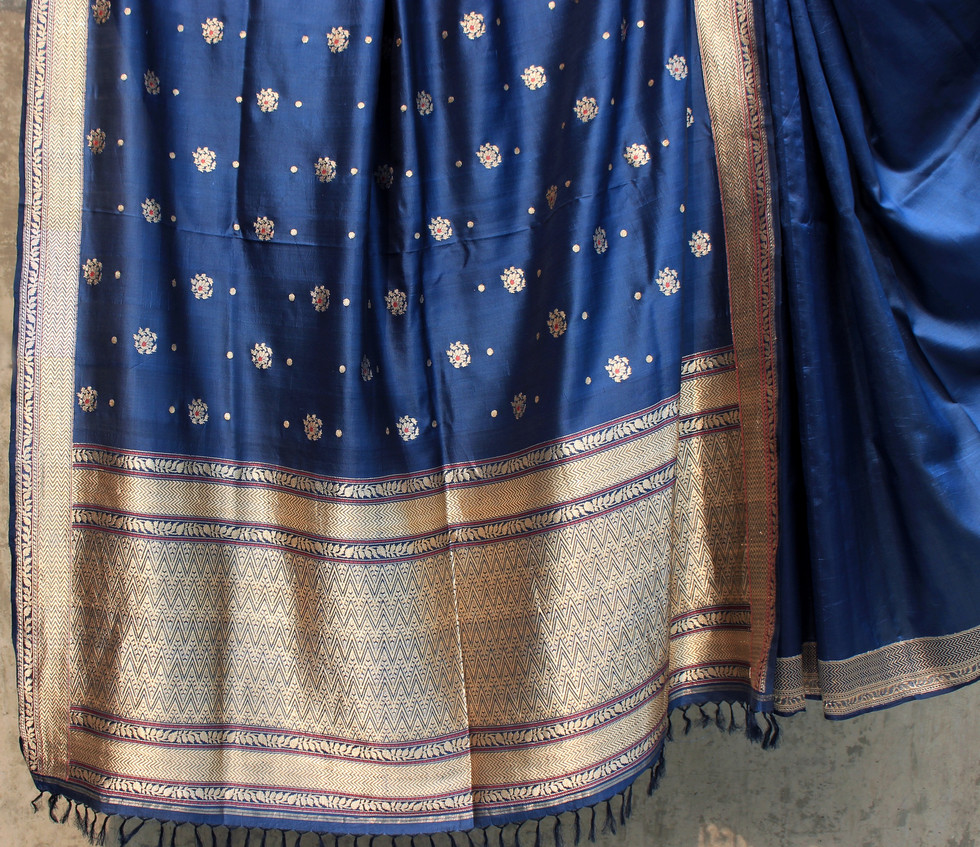 ALD- 4/1/14 -  Light Karnataka silk with loom embroiderd body motifs
