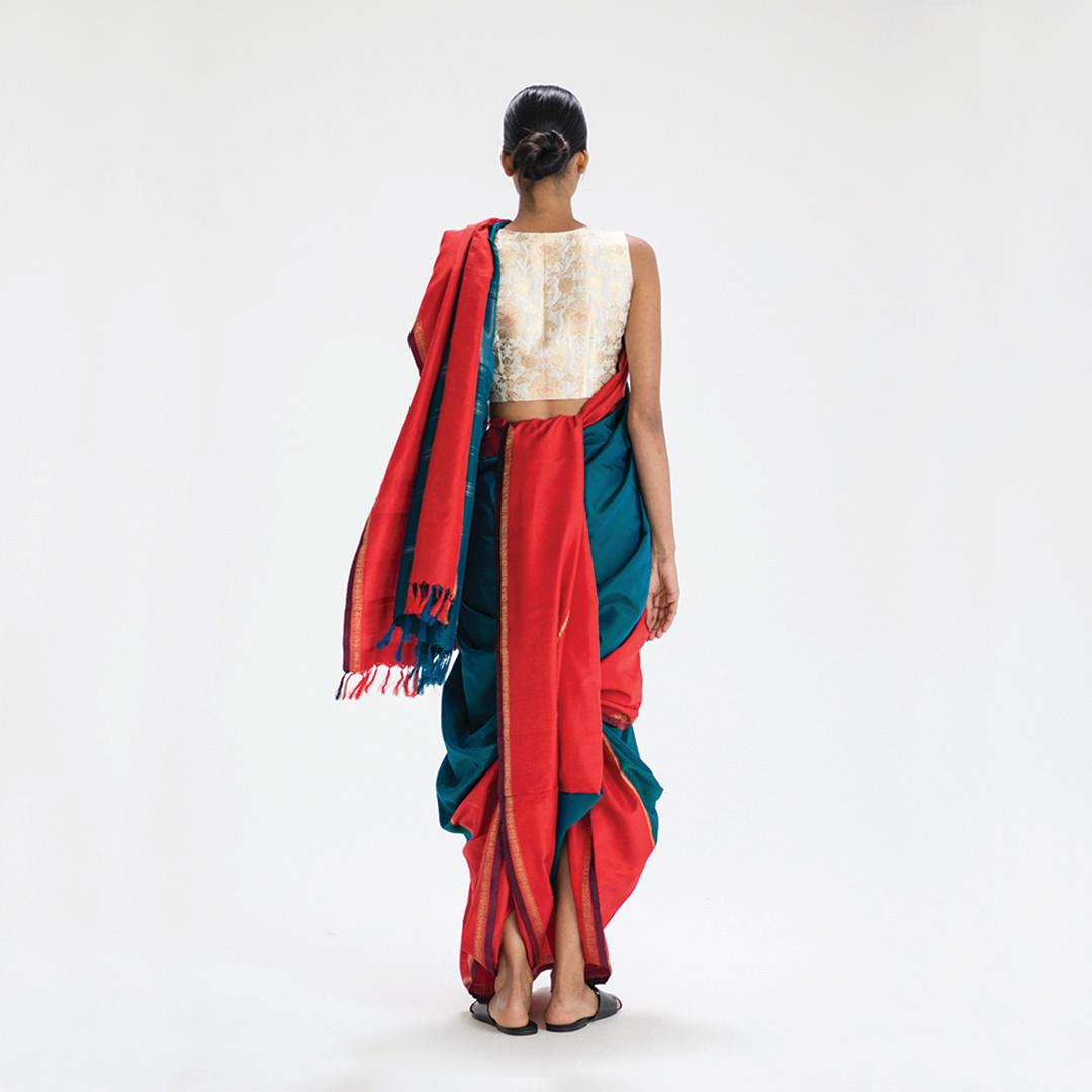 No. 73 Saurashtra Katt Drape - Tamil Nadu, India (back)