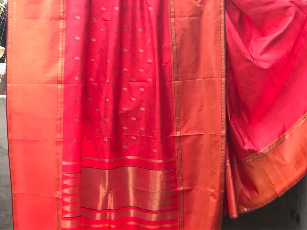 KKE- 656-13 - Low twist silk body with patterned motifs in zari