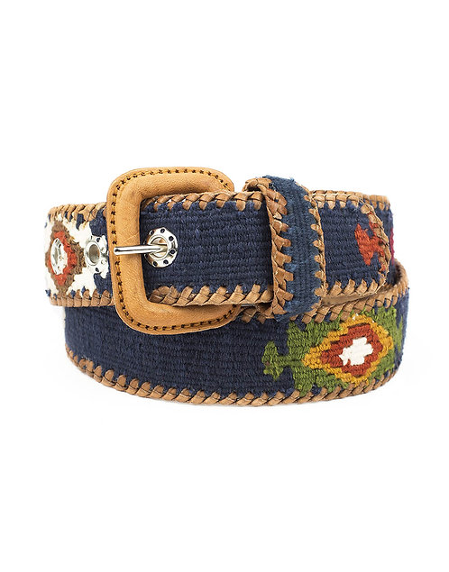 Cinturón étnico azul