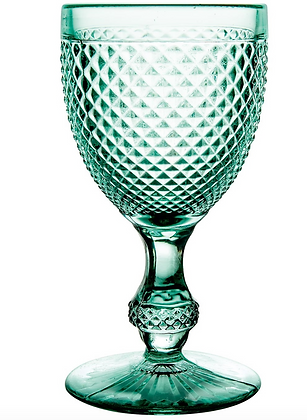 Cristalería Vista Alegre verde