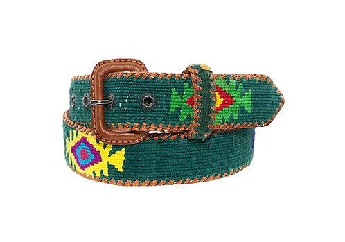 Cinturón étnico verde