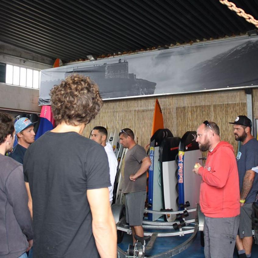 Red Bull equipment warehouse tour