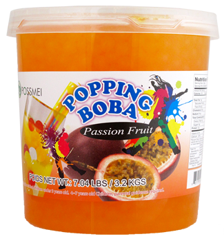 PASSION FRUIT POPPING BOBA
