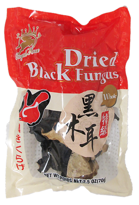 DRIED BLACK FUNGUS (WHOLE)