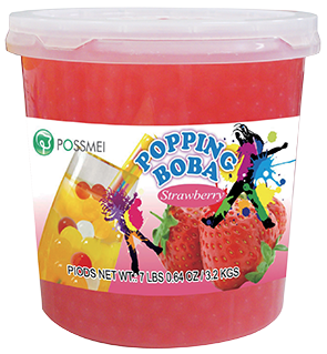STRAWBERRY POPPING BOBA