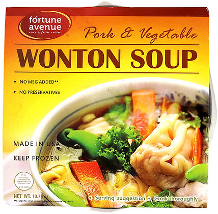 WONTON SOUP (PORK/VEGETABLE)