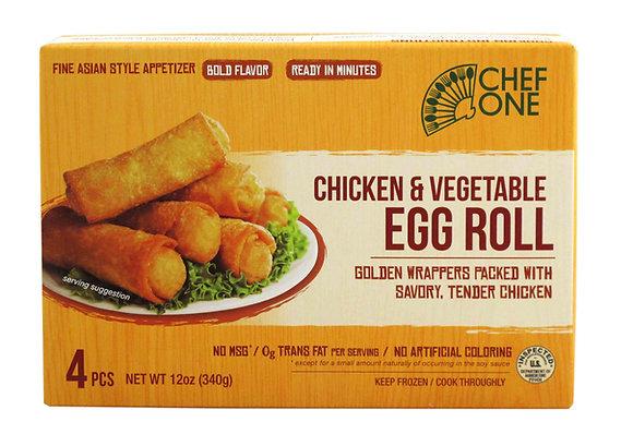 CHICKEN/VEGETABLE EGG ROLL (4 PC)