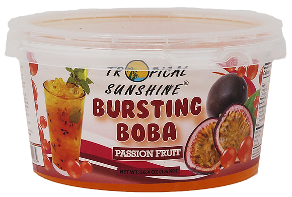 PASSION FRUIT BURSTING BOBA