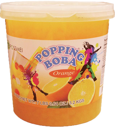 ORANGE POPPING BOBA