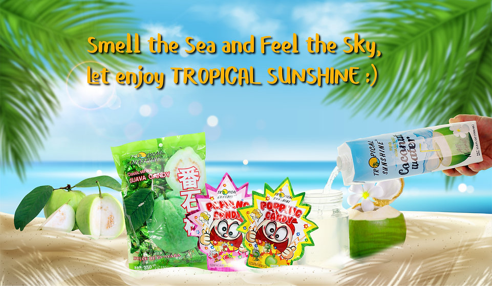 TROPICAL SUNSHINE_COCONUT WATER and CAND