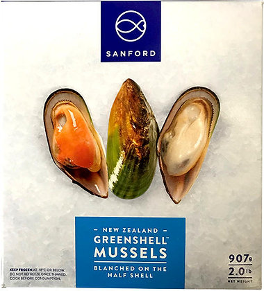 NEW ZEALAND MUSSEL 1/2 SHELL