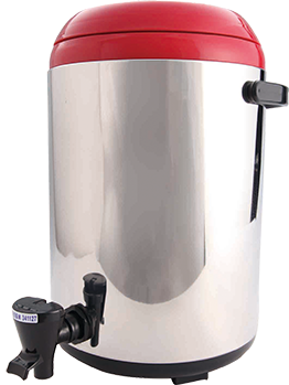 RED THERMOS BUCKET 2.6 GAL (M)