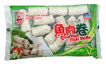 FISH ROLLS WITH PORK FILLING