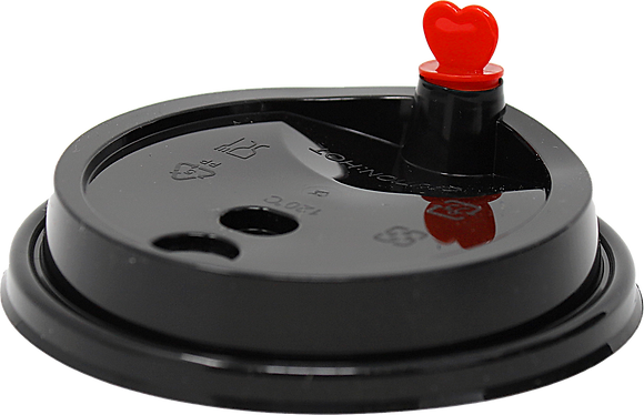 LID WITH STOPPER (RED HEART)