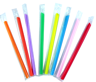 JUMBO STRAW (INDIVIDUAL WRAPPED 22CM)