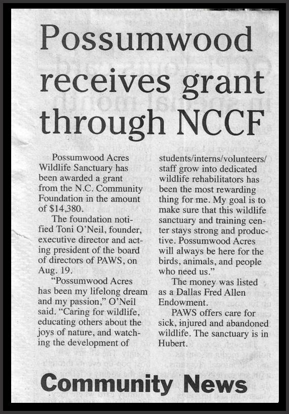 Possumwood receives NCCF Grant