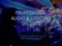 Professional audio and lighting systems.