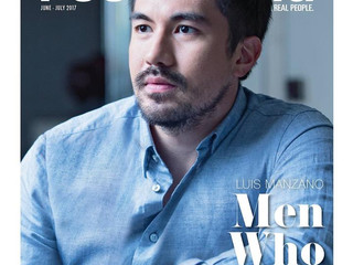 Luis Manzano graces the cover of PeopleAsia's June - July 2017 issue.