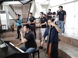 BTE'S  GROOMSMEN  Sing Praises at St. Alphonsus Parish
