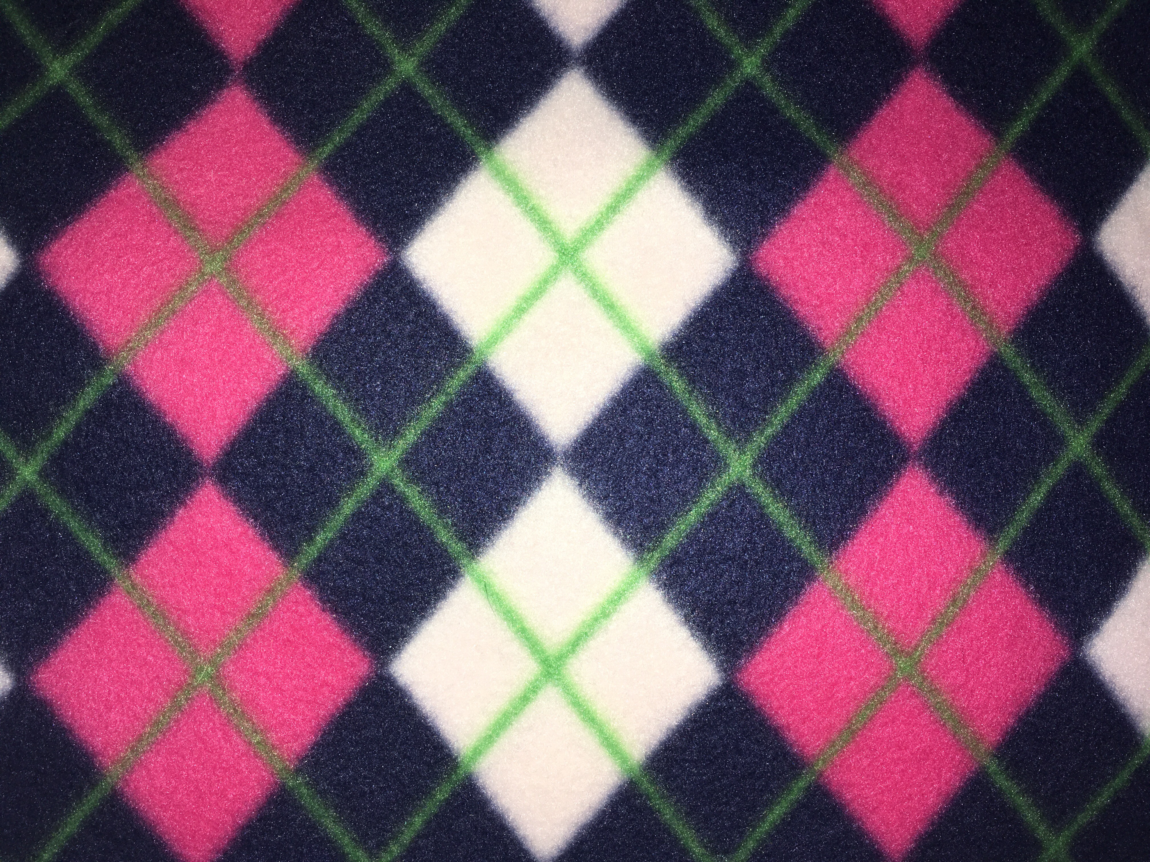 Pink and Navy Argyle