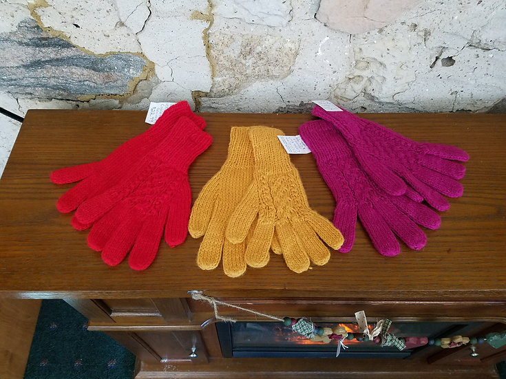 GLOVE: KNIT, 100% ALPACA