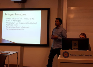 Foundation's former student gives a presentation at Utrecht University