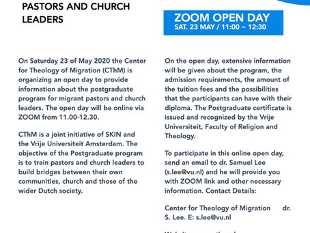 Zoom Open Day Sat. 23 MAY / 11:00 ~ 12:30