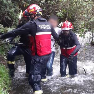 El ECU 911 coordinó rescate en Peguche