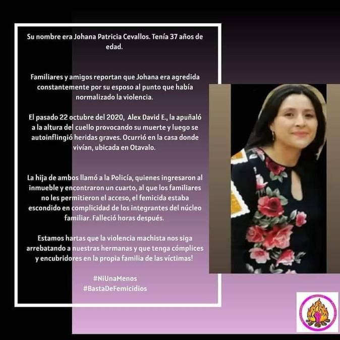 Consternación en Otavalo por nuevo feminicidio