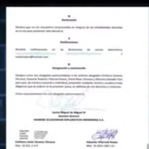 Empresa canadiense denuncia a gobernador de Imbabura