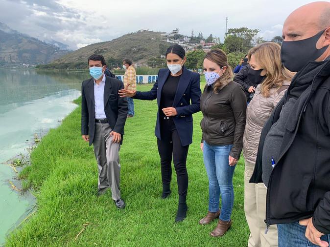 Alcaldía de Ibarra y Ministerio de Turismo comprometen esfuerzos en beneficiode Yahuarcocha