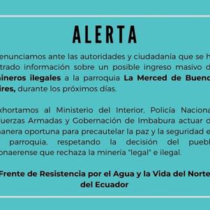 Cahuasquí pide control preventivo a las  autoridades