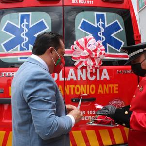 Se entregó ambulancia para servicio de la ciudadanía anteña