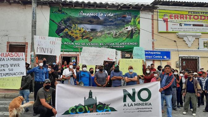 Nuevo incidente entre pobladores de Cahuasqui y funcionarios de minera Soldgold
