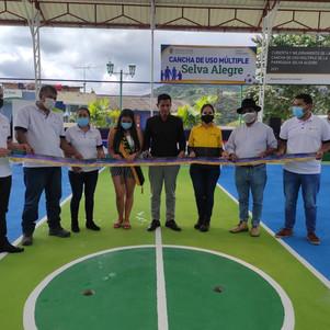Unacem Ecuador y Gad de Selva Alegre entregaron infraestructura deportiva