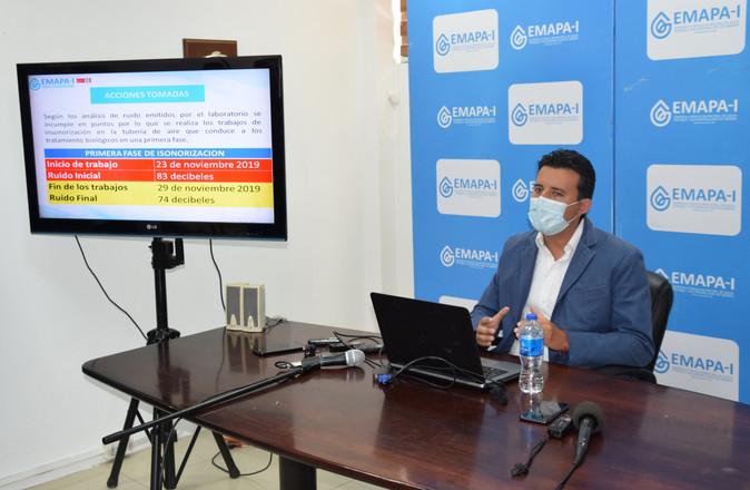 EMAPA-I  resuelve  problemas históricos administrativos, financieros y operativos de la PTAR