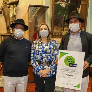 Otavalo recibe sello como destino turístico seguro