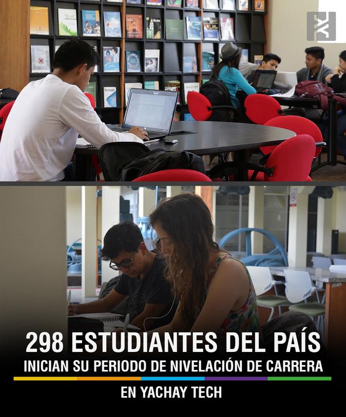 298 estudiantes del país inician su periodo de nivelación de carrera en Yachay Tech