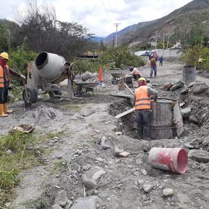 Ampliación del sistema de alcantarillado en El Juncal