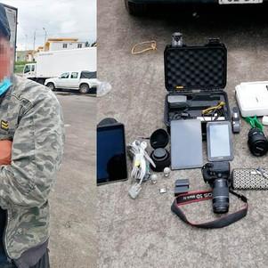 Policia detiene a presunto ladrón de equipos audiovisules de parqueadero de hotel en Ibarra