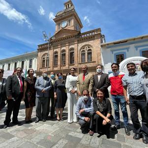Ex edificio del Teodoro Gómez de la Torre, ícono histórico de Ibarra, inicia proceso de restauración