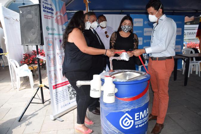 Más estaciones de lavado de manos para Ibarra