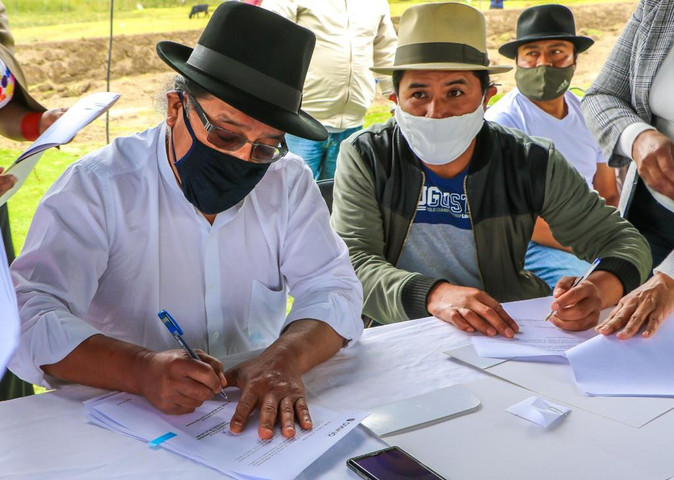 Se suscribió convenio para la ejecución del Proyecto de Ecoruta no invasiva ECOÑAN