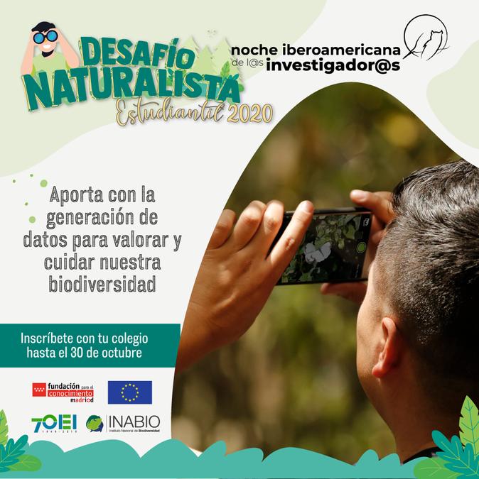 """El INABIO desarrollará en noviembre el """"Desafío Naturalista Estudiantil 2020"""""""