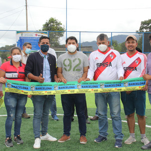 La primera cancha sintética en la zona de Intag en Selva Alegre