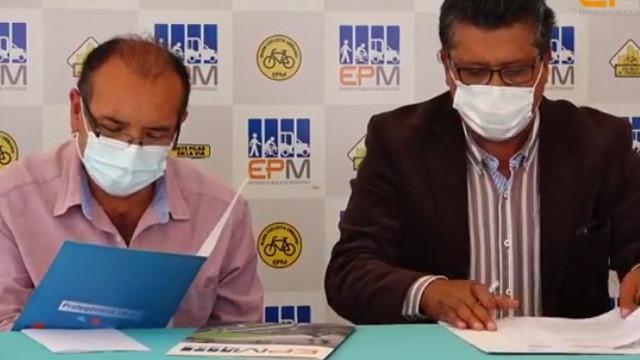 EPM y CAE-I firmaron convenio de cooperación para trabajar por la movilidad sostenible